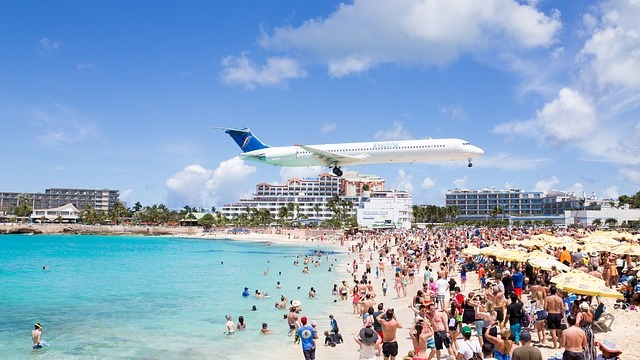 Sint Maarten vliegtuig