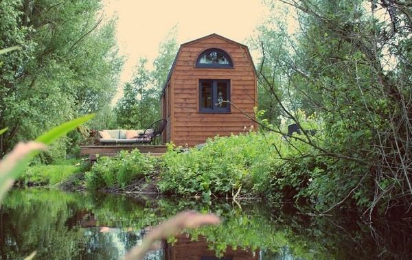 Afgelegen tiny house in Utrecht