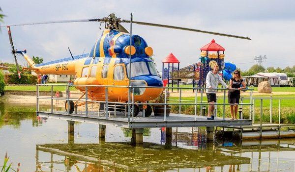 Overnachten in helikopter