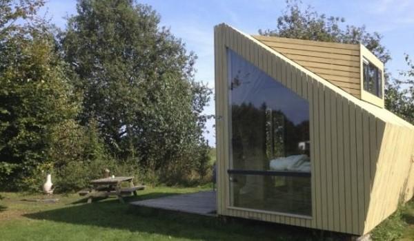 natuurhuisje door studenten ontworpen