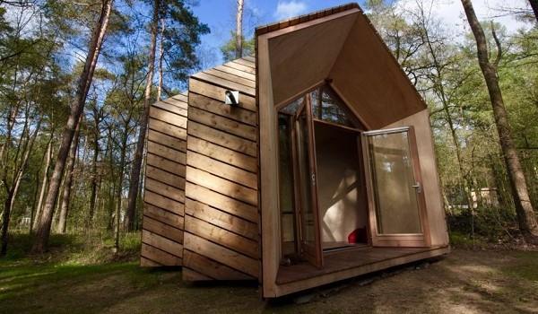 Tiny house in het bos